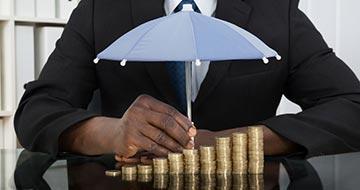 parapluie main pièces de monnaie