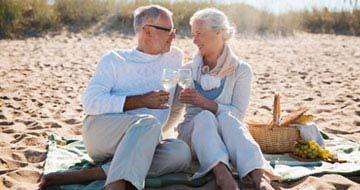 retraite couple plage
